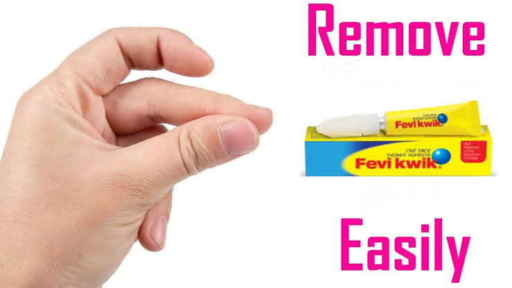 How to remove feviquick from plastic